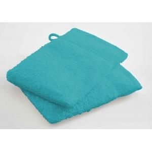 TODAY - lot de 2 gants de toilette - couleur - bleu turquo - Serviette De Toilette
