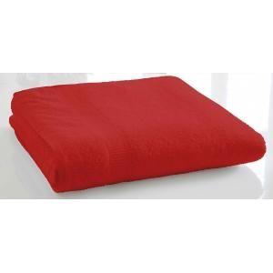 TODAY - serviette de bain unie 70 x 130 cm - couleur - rou - Serviette De Toilette