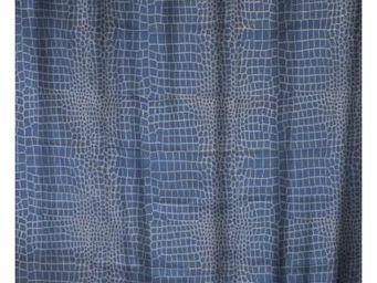 Cm - rideau de douche croco bleu - Rideau De Douche
