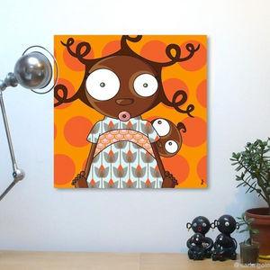 SERIE GOLO - toile imprimée arétha 60x60cm - Tableau Décoratif Enfant