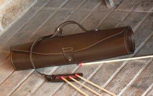 PHILIPPE GRANET - trousse � feu en cuir - Porte Allumettes