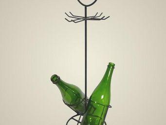 L'HERITIER DU TEMPS - porte bouteilles et verres en fer - Porte Bouteilles