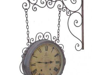 L'HERITIER DU TEMPS - horloge murale double face grise 32cm - Horloge Murale
