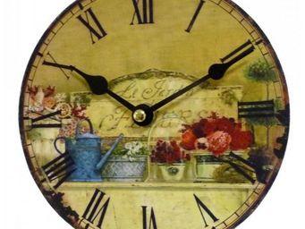 L'HERITIER DU TEMPS - horloge murale mini jardin d'ete 16,5cm - Horloge Murale