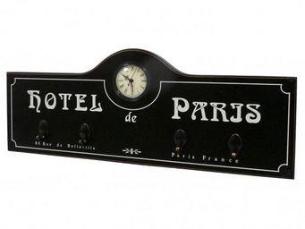 L'HERITIER DU TEMPS - horloge murale hotel paris noir - Horloge Murale