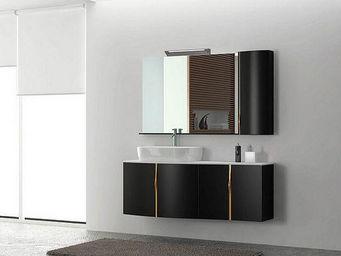 UsiRama.com - meuble salle de bain design luxe popking 120cm - Meuble Vasque