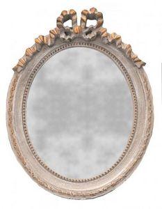 Demeure et Jardin - glace ovale style louis xvi verticale - Miroir