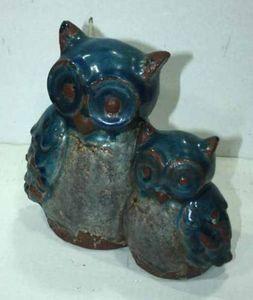 Demeure et Jardin - couple de chouettes en c�ramique - Ornement De Jardin