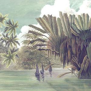 Ananb� - les p�cheurs de l'okavango - Papier Peint Panoramique