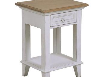 Interior's - chevet blanc 1 tiroir - Table De Chevet