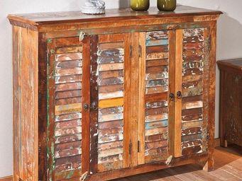 WHITE LABEL - buffet bas design digam en bois de manguier recycl - Buffet Bas