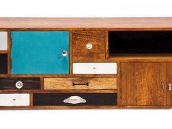 WHITE LABEL - meuble tv hawa�. - Meuble Tv Hi Fi