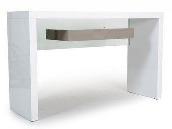 WHITE LABEL - console space blanc laqué. - Console