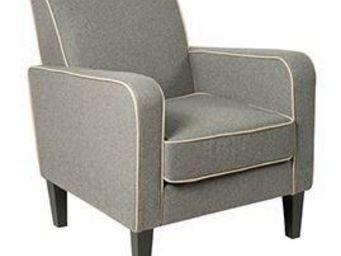 WHITE LABEL - petit fauteuil elegance granit. - Fauteuil
