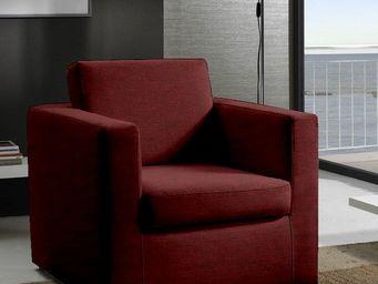 WHITE LABEL - fauteuil fixe dreamer sidney sun tissu microfibre  - Fauteuil