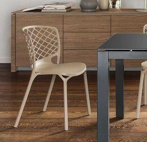 Calligaris - chaise empilable gamera de calligaris coloris noug - Chaise De Jardin