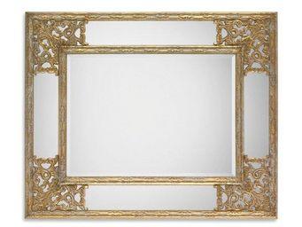 WHITE LABEL - angel miroir mural design doré - Miroir