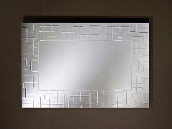 WHITE LABEL - labyrinthe miroir mural rectangulaire travaillé un - Miroir