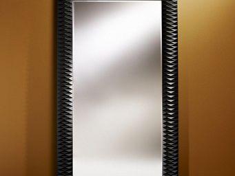 WHITE LABEL - hall grand miroir mural finition noire - Miroir