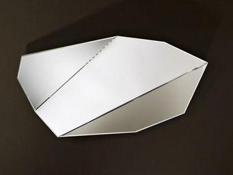 WHITE LABEL - mirah miroir mural design en verre petit modèle - Miroir