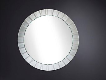WHITE LABEL - moonlight miroir mural design en verre - Miroir Hublot