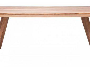 WHITE LABEL - table repas wild en bois massif, 160 cm - Table De Repas Rectangulaire