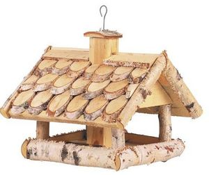 Aubry-Gaspard - mangeoire oiseaux en bouleau - Mangeoire � Oiseaux