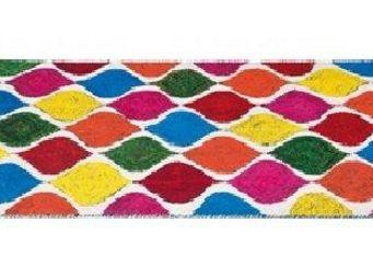 WHITE LABEL - tie and die, tapis multicolore 170 x 240 cm. - Tapis Contemporain