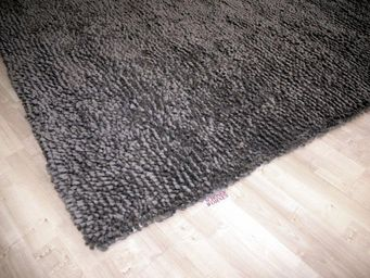 WHITE LABEL - venice tapis épais gris 140x200 cm - Tapis Contemporain