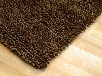WHITE LABEL - venice tapis épais marron 170x240 cm - Tapis Contemporain