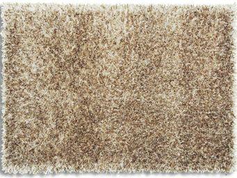 WHITE LABEL - feeling tapis épais taupe 90x160 cm - Tapis Contemporain