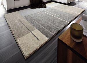 WHITE LABEL - samoa design tapis patchwork gris taupe 160x230 c - Tapis Contemporain