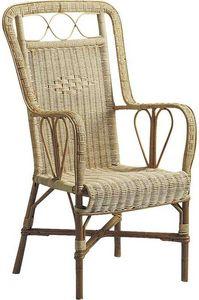 Aubry-Gaspard - fauteuil rotin naturel - Fauteuil De Jardin