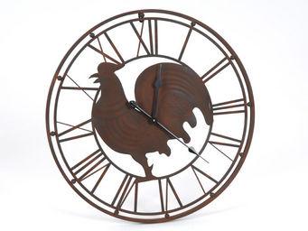 Amadeus - horloge en m�tal coq 69cm - Horloge Murale