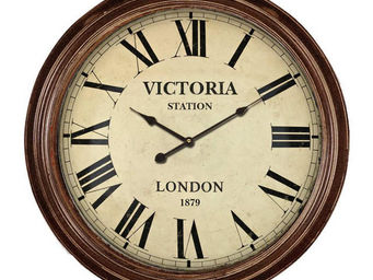 Antic Line Creations - pendule anglaise victoria station - Horloge Murale