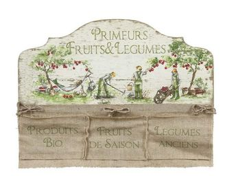 Interior's - enseigne � 3 poches histoire de jardin - Tableau D�coratif