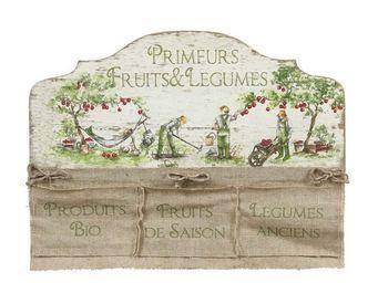 Interior's - enseigne à 3 poches histoire de jardin - Tableau Décoratif