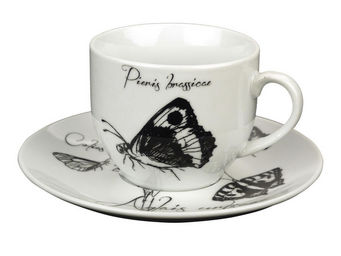 Interior's - tasse accompagnée de sa sous-tasse iris - Tasse À Café