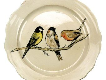 Interior's - assiette dessert oiseaux - Assiette À Dessert