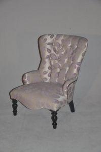 Demeure et Jardin - fauteuil feuilles mauves - Fauteuil
