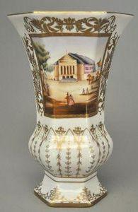Demeure et Jardin - vase octogonal empire - Vase Décoratif