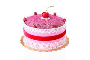 ROSSO CUORE - fancy cake alla lavanda colore rosa - Décoration De Table