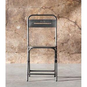 Mathi Design - chaise pliante vintage steel - Chaise