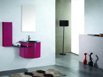 UsiRama.com - meuble salle de bain design rose 60cm - Meuble De Salle De Bains