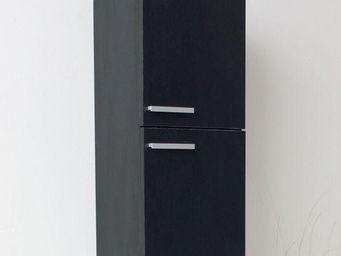 UsiRama.com - colonne de salle de bain suspendue 70cm noir - Armoire De Salle De Bains