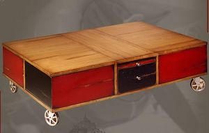 BATEL -  - Table Basse � Roulettes