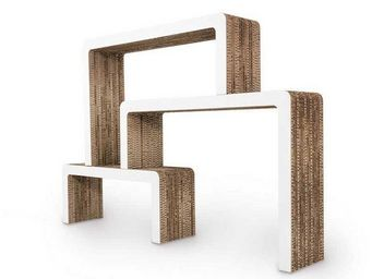 Corvasce Design - libreria in cartone vimini - Biblioth�que Ouverte