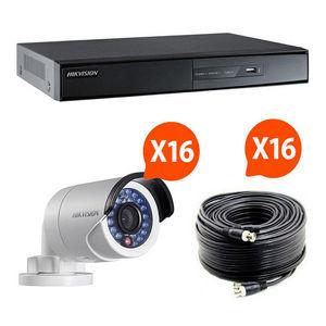 CFP SECURITE - kit videosurveillance turbo hd hikvision 16 caméra - Camera De Surveillance