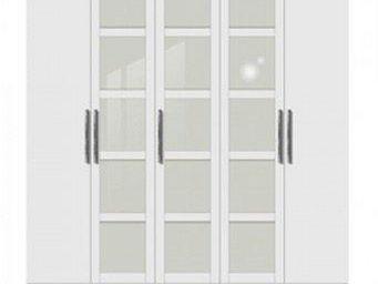 WHITE LABEL - dressing penderie porto cinq portes à battant blan - Armoire Dressing