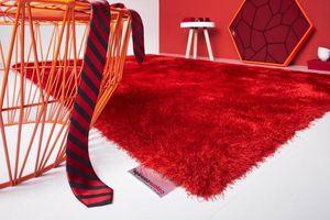 WHITE LABEL - colourcourage design tapis infinity rouge 170x240  - Tapis Contemporain